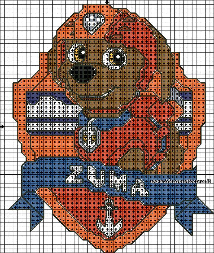 Схемы вышивки крестом щенячий патруль 2