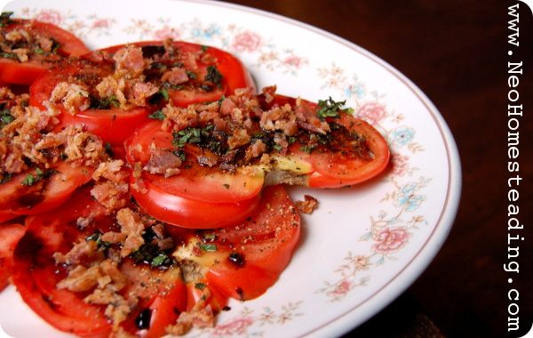 Tomato Salad With Fresh Herbs And A Balsamic Reduction Recipes ...