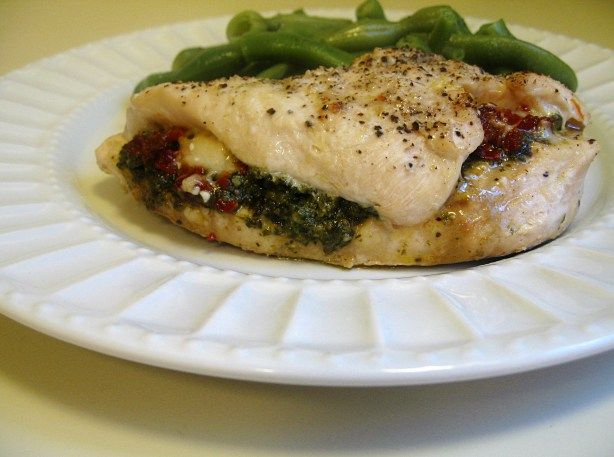 Chicken Breasts with Pesto- Sundried Tomatoes- and Parmesan