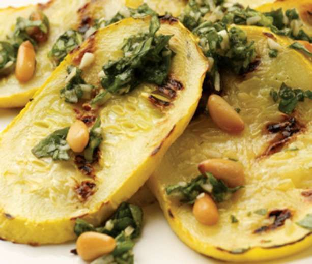 Pesto-Topped Grilled Summer Squash | Salads and Veggies... | Pinterest
