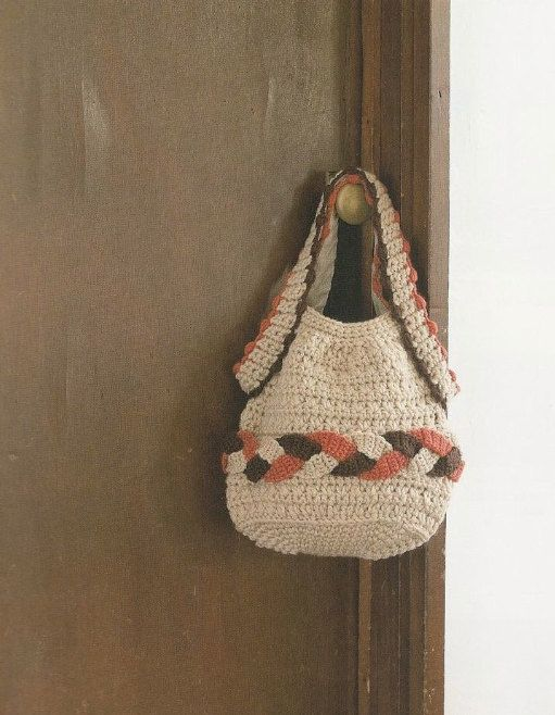 Crochet Bag Japanese Pattern : Japanese Crochet Handbag Tote Bag Pattern - Japanese Craft ...