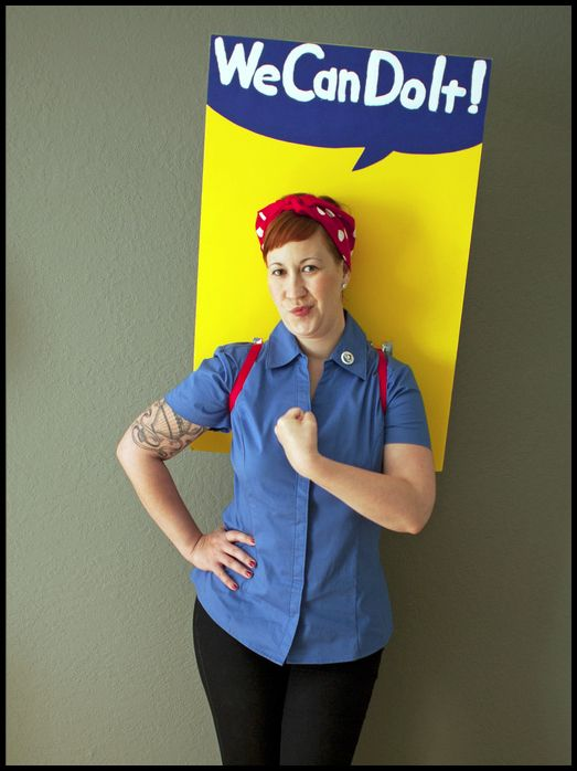 We Can Do It! Fun Halloween costume inspiration.