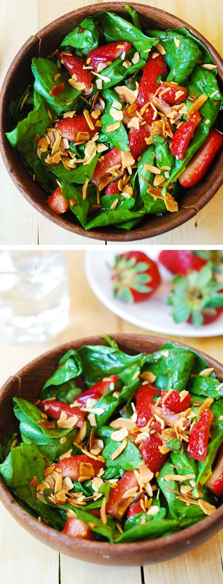 Spinach And Strawberry Salad With Butter Toasted Almonds Recipe ...