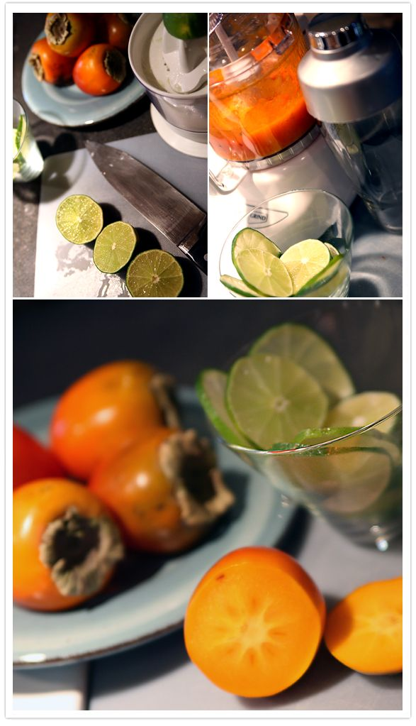 persimmon margaritas | treats | Pinterest