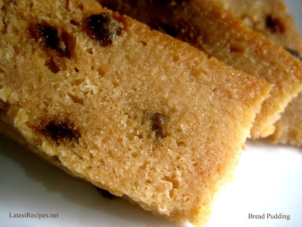 Simple steamed bread pudding