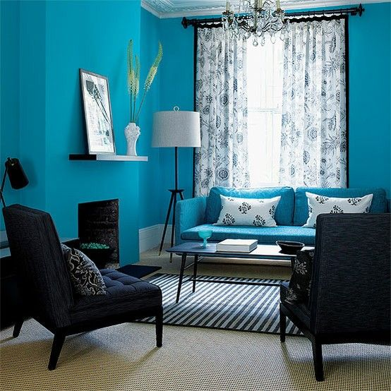 Teal Living Room Decor Interior Pinterest