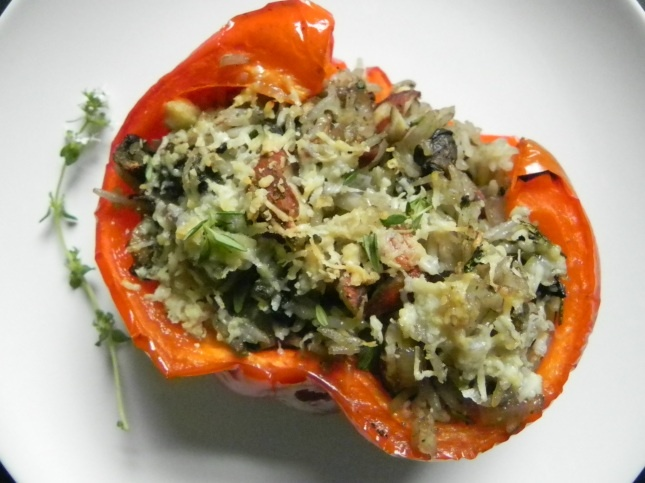 Vegetarian Stuffed Red Peppers | yummy....veggies | Pinterest
