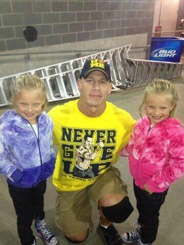 John cena with Chris Jerichos daughters | ~JOHN CENA ...