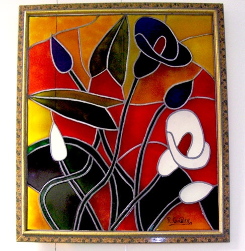 Painting design stained glass pinterest for Glass painting designs