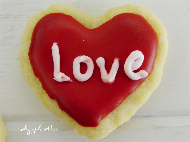 Lemon Shortbread Valentine's Day Cookies