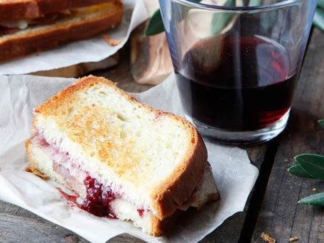 ... Grilled Ham and Cheese made with Gruyere & Strawberry Red Wine Jam