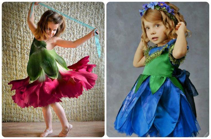 Платье сшила из цветов 745