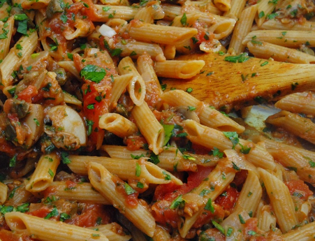 pantry pasta recipe - quick and easy | Grub | Pinterest