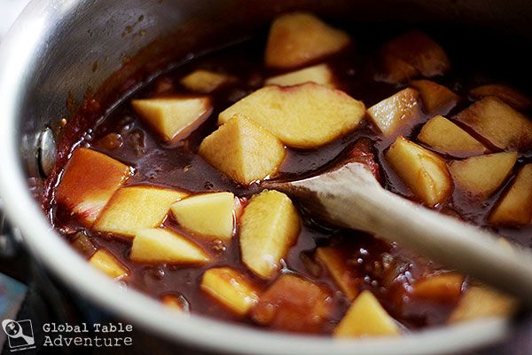 Ginger Peach Barbecue Sauce Makes 2 1/2 cups Ingredients: 3 ...
