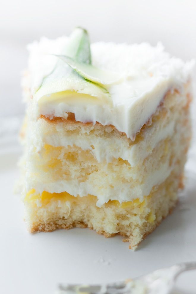 pina colada cake | W H I T E Wonders & Diamonds | Pinterest