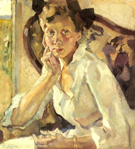 Leo Putz .  Putz was born  in 1869 and in his lifetime he was celebrated as one of the most renown painters of the Art Nouveau and of the impressionism. Today he is recognized to have belonged to the group of artists who paved the path to expressionism.