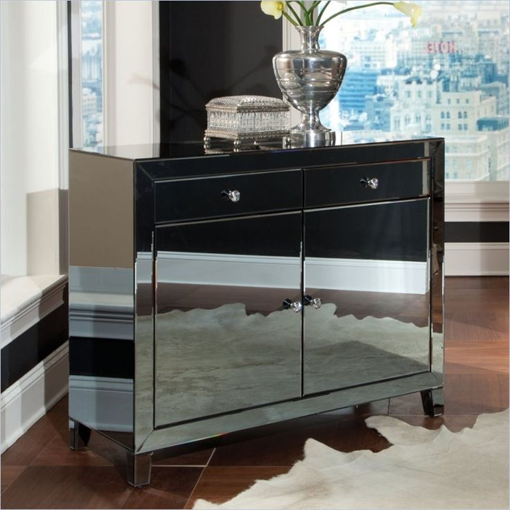 Standard Furniture Plaza Buffet In Smoked Mirror 19803 Lowest Price Online On All Standard