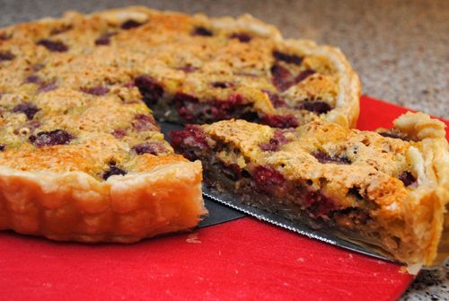Raspberry Toasted Walnut Tart