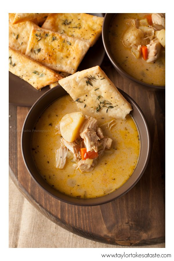 Turkey Pot Pie Soup from Taylor Takes a Taste
