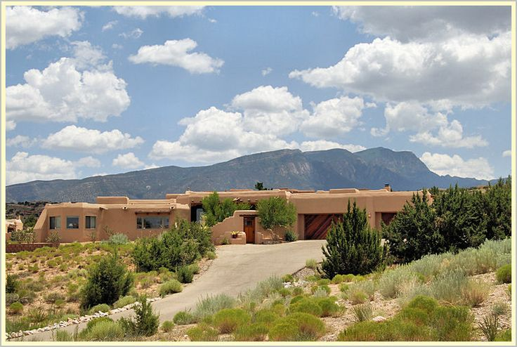 Southwest Style Pueblo Desert Adobe Home Santa Fe Homes