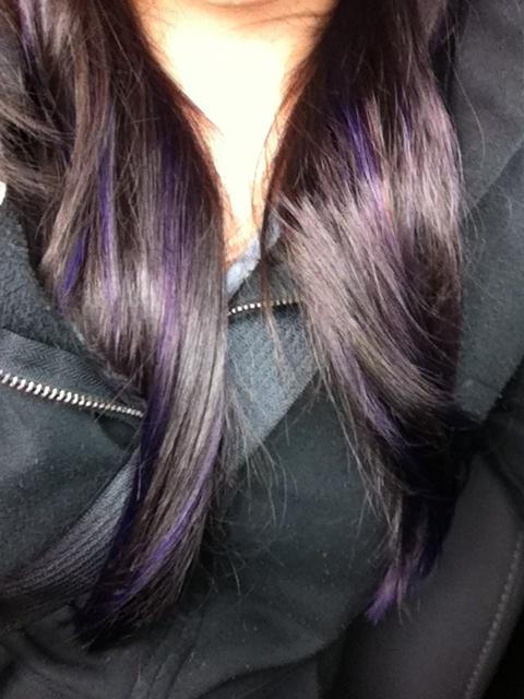purple lowlights peekaboos love love my hurrr for fall cool purple ...