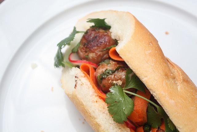 Pork Meatball Banh Mi, from Sass & Veracity