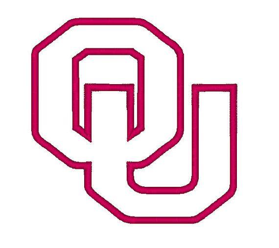 Oklahoma University Logo Digital Embroidery/Apllique Files, INSTANT D ...