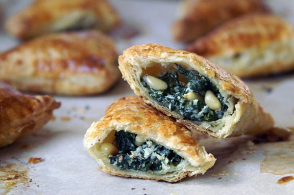 spinach + ricotta turnovers. | Appetizers | Pinterest