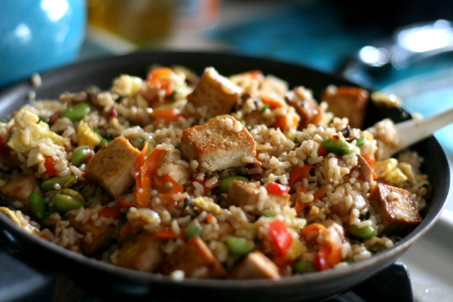 Caramelized Tofu Fried Rice | Yummy Recipes to Try! | Pinterest