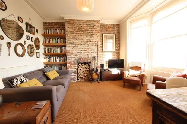 Exposed brick living room living room ideas pinterest for Living room ideas exposed brick