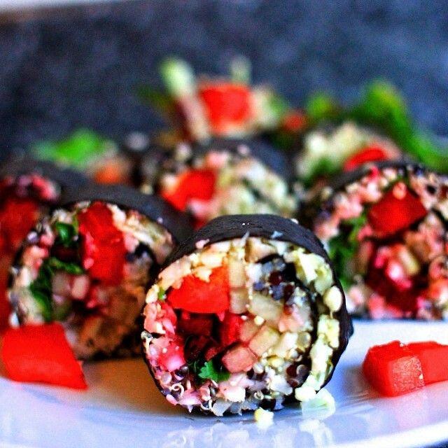 QUINOA SUSHI | HEALTHY FOOD | Pinterest