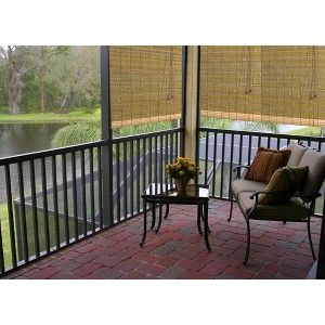 outdoor patio radiance laguna bamboo roll up blind natural 48x72