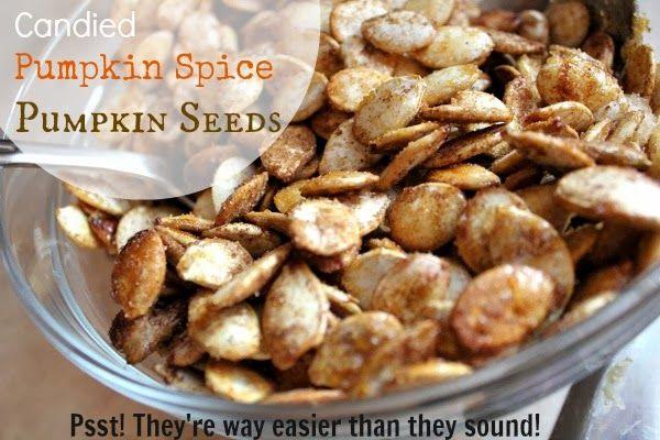 Candied Pumpkin Spice Pumpkin Seeds | Halloween block ideas | Pintere ...