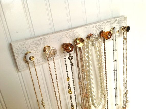 necklace holder quot all that glitters quot wall mounted accessory