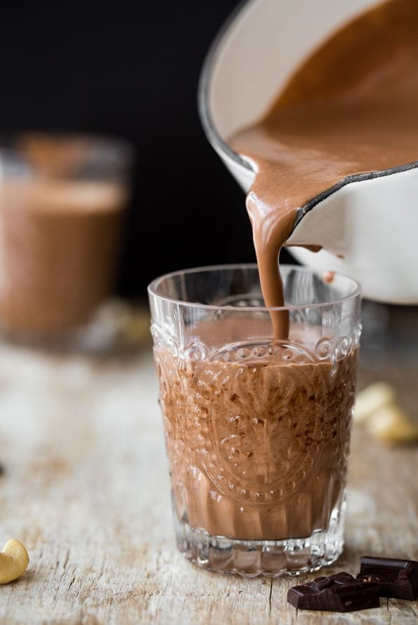 Luxurious Dairy-Free Hot Cocoa! All natural. The perfect hot beverage to add to your V-Day menu.