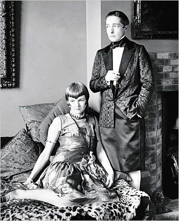 """Radclyffe Hall (author of controversial novel """"The Well of Loneliness"""") and Lady Una Troubridge (first translator of Colette to English) - butch/femme power couple of the 20s"""