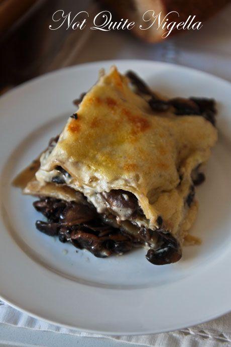 mushroom lasagna recipe | The Foodie in Me | Pinterest