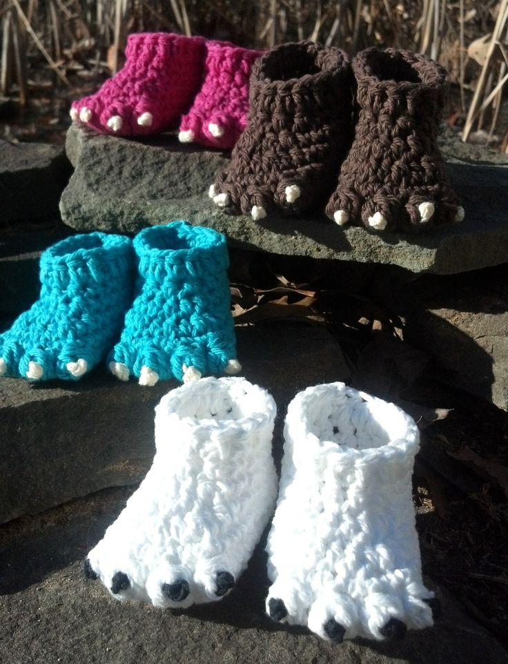 Free Crochet Pattern Dinosaur Slippers : Crochet Pattern - Quick and Easy Cute Monster or Animal ...