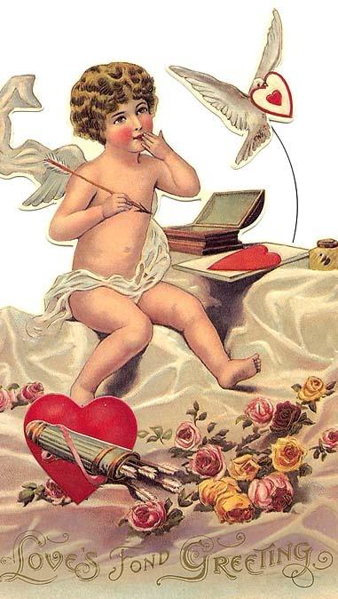Vintage Valentine postcard...