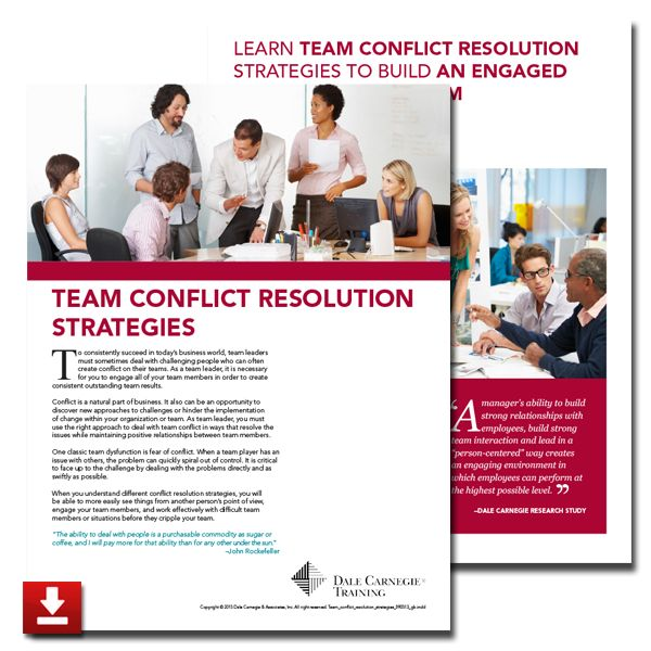 team conflict resolution Team conflict resolution common causes of conflict conflict outcomes conflict management styles conflict management style thomas & kilmann's conflict model.