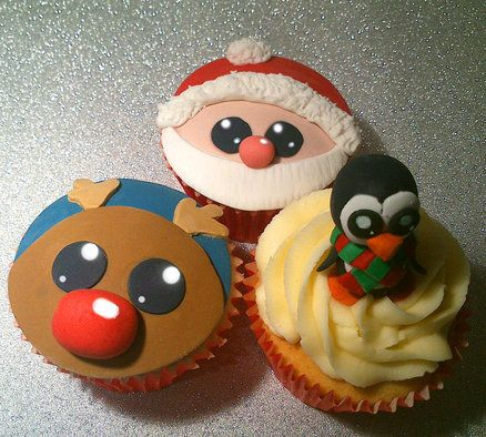 North Pole Christmas Cupcakes - For all your cake decorating supplies, please visit craftcompany.co.uk