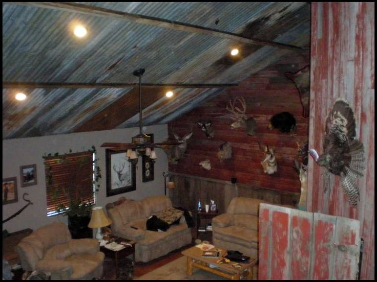Tin ceiling distressed barn wood etc home pinterest for Old barn tin ideas