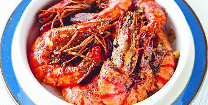 Garlic Pepper Prawns | Flavors of Asia | Pinterest
