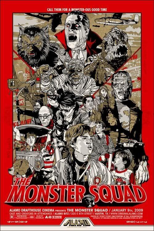 Mondo monster squad 1987 movie poster monster movie art eeek