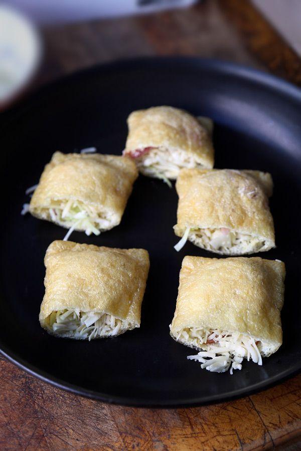 油揚げのポケットに詰めちゃうアイデアレシピ、カリカリチーズ焼き