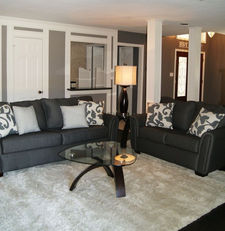 Slate gray and ivory living room my house ideas pinterest