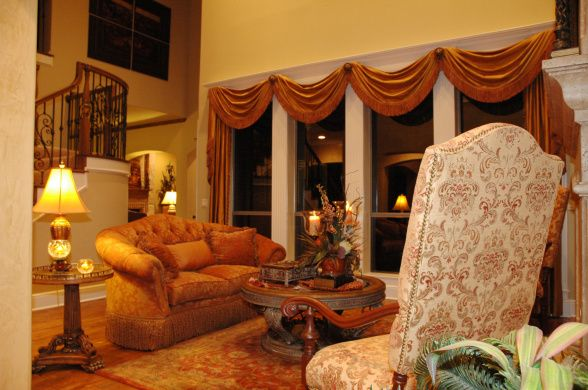 tuscan window treatments | TEXCAN (Tuscany in Texas) , Tuscan inspired formal living room. Still ...