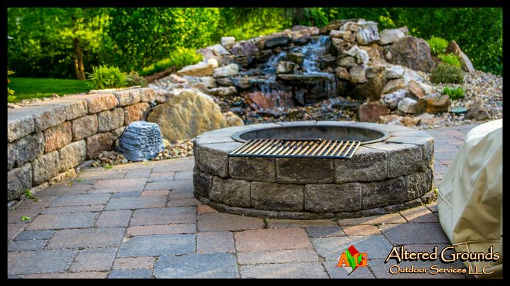 Ag Fire Pit And Waterfall Fire Pits Pinterest