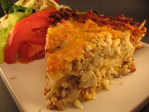 Cauliflower pie with potato crust | Recipes to Try | Pinterest