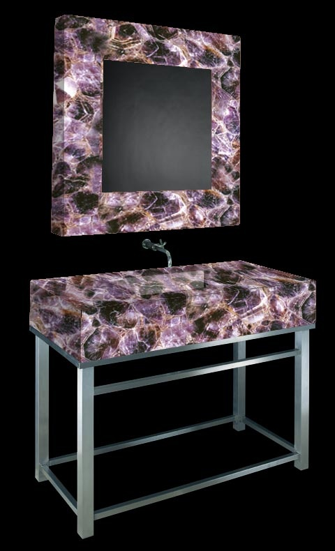 Pink and brown agate bathroom set dream home pinterest for Red and brown bathroom sets